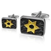 "Cufflinks ""Golden stars"""