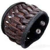 Braided LeatherBracelet / Brown