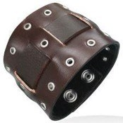 "Brown ""Rustica"" Leather Bracelet"