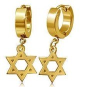 "Earring ""Golden Star"""