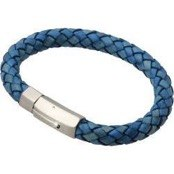 "Leather bracelet ""Strato Blue"""