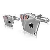 Cufflinks design Poker