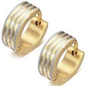 "Earring ""Goldplated"" Stainless steel (1 pc.)"