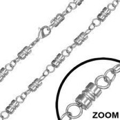 Stainless steel chain 56 cm. (6 mm)