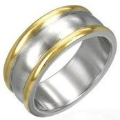 "Men's ring ""Goldplated"""