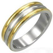 """Goldplated"" men's ring"