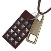 """R925"" Cool leather jewelry."