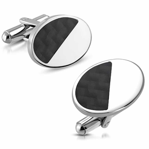 """Style"" Cufflinks in stainless steel (316L)"