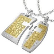 "Couple's jewelries ""Gold/Steel"""