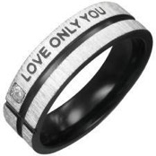 """Love only you"" Blackcoat ring."
