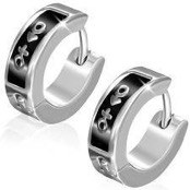 Nice earring in Stainless steel. (1 pc)