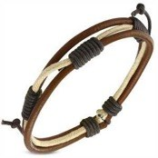 Hawk leather bracelet 20cm