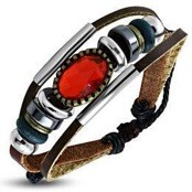 bracelet with red stone men