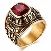 Herrering with red stone
