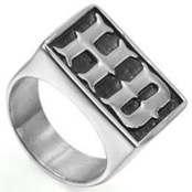 "Biker Ring ""HD"" steel."