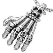 "Necklace ""Skeleton hand"" Stainless steel"