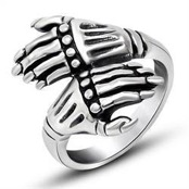 Men's ring in steel