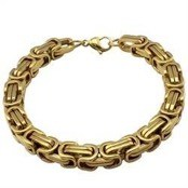 Bracelet in gold-plated steel