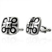 Cufflinks in stainless steel (316L)