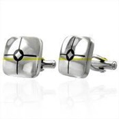 """Nici"" Cufflinks in stainless steel (316L)"