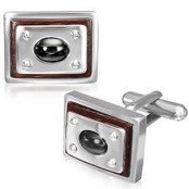 "Cufflinks ""Steel on Wood"""