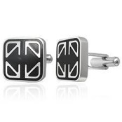 Cufflinks in steel.
