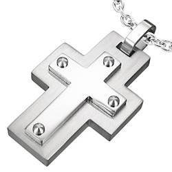 Stylish cross in stainless steel