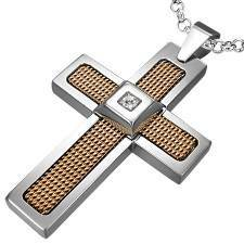 """CZ"" Goldplated cross."