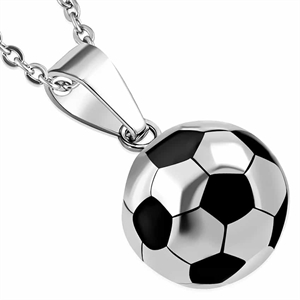 "Necklace ""Golden Football"" Stainless steel."