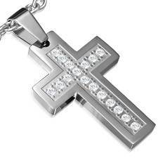 """Cross steel"" necklace."