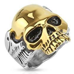 Skull Ring with gold-plated skull.