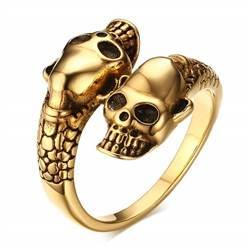 Gold plated ring.