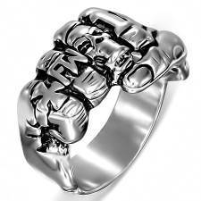 """Arka-skull"" men's ring in stainless steel"