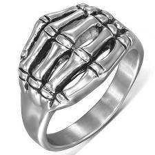 "Men's ring ""Skull Hand"" Steel."