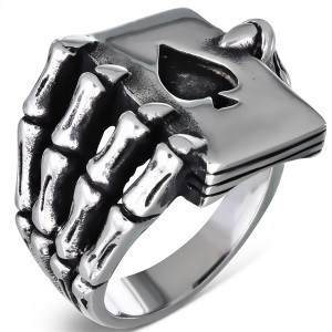 Poker hand - stainless steel.