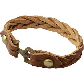 Leather braided bracelet.