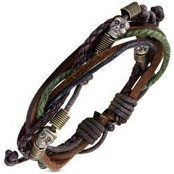 Skull Leather Bracelet 18-20cm