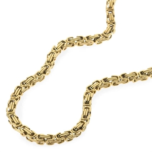 Gold plated stainless steel chain 55 cm