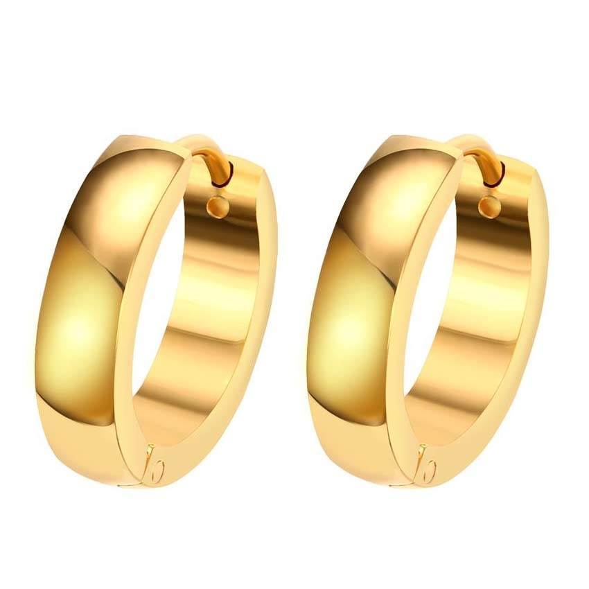 Nice earrings with gold colour, 1 pc.