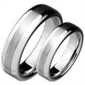 Mens ring tungsten titanium