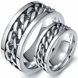 """Chain"" Stainless steel ring."