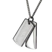 Necklace in polished steel