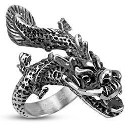 "Finger ring ""China Dragon"" Steel"