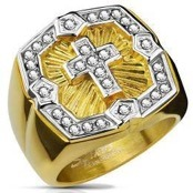 mens ring big gold