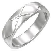 Classic ring in Stainless steel.