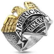 "Men's ring American Biker ""Eagle"""