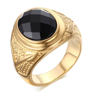 Gold-plated men's ring