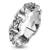 Mens ring in stainless steel (316L)