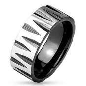 "Mens ring ""Troye"" black coated"