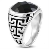 Men's ring in steel.